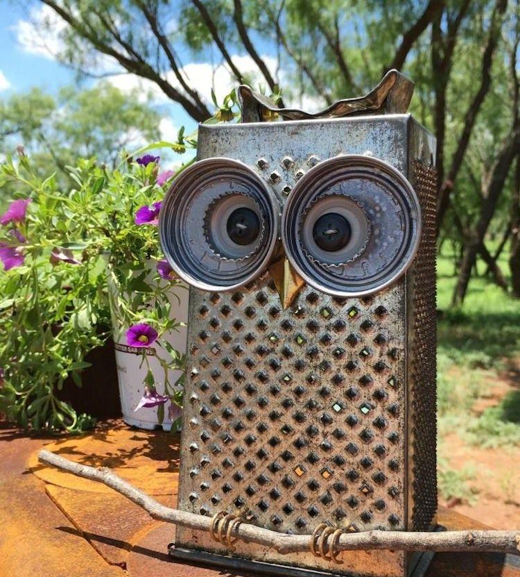 Eule Aus Vierkantreibe Selber Machen Craft Owl Crafts Garden