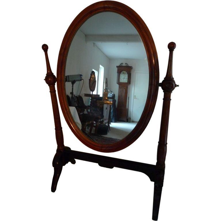 Mirror Standing Mahogany Early 19th Century | Floor mirror, Mirror ...