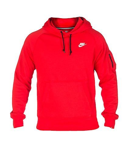 NIKE CLOTHING MENS NIKE ACE FLEECE PULLOVER HOODIE Medium Red ...