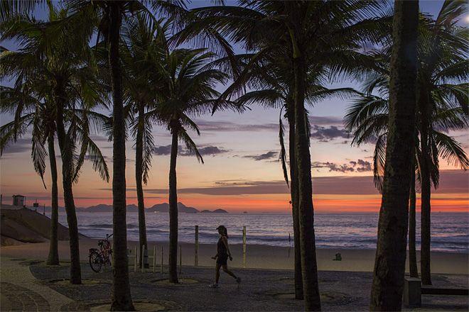 Arpoador Beach in Rio de Janeiro, Brazil