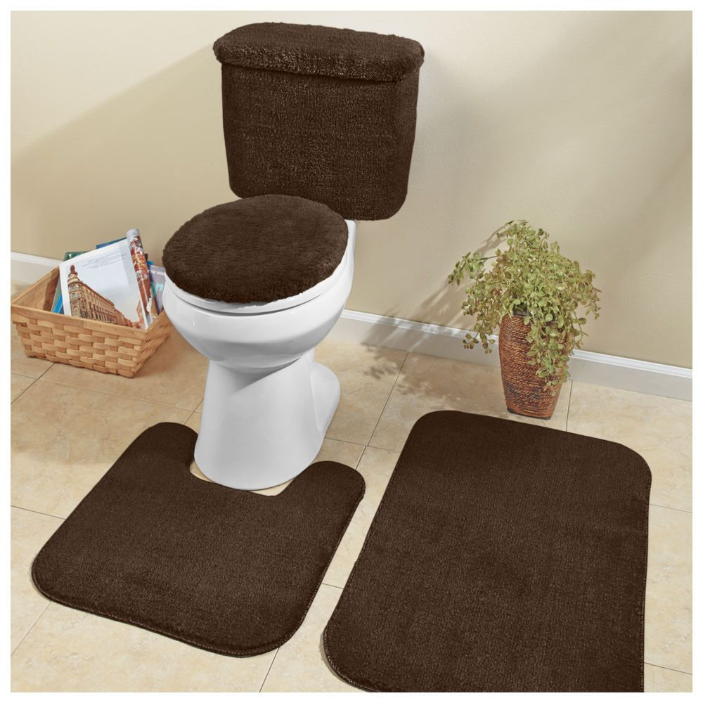 5 Piece Plush Bath Set In 2020 Bathroom Rugs Bath Mat Large