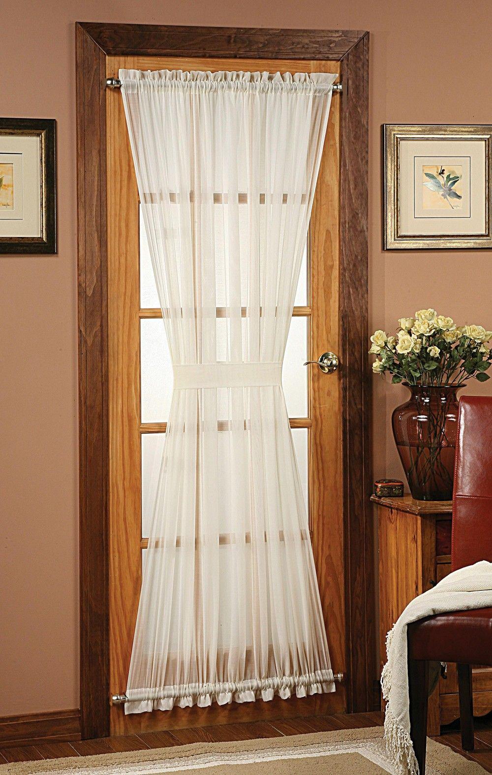 Splendor Batiste Door Panel Curtain French Door Curtains Door Curtains French Door Curtain Panels