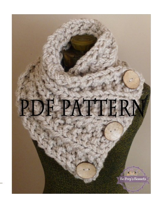 3 Knitting Patterns Knit Cowl Scarf Pattern Design Discount