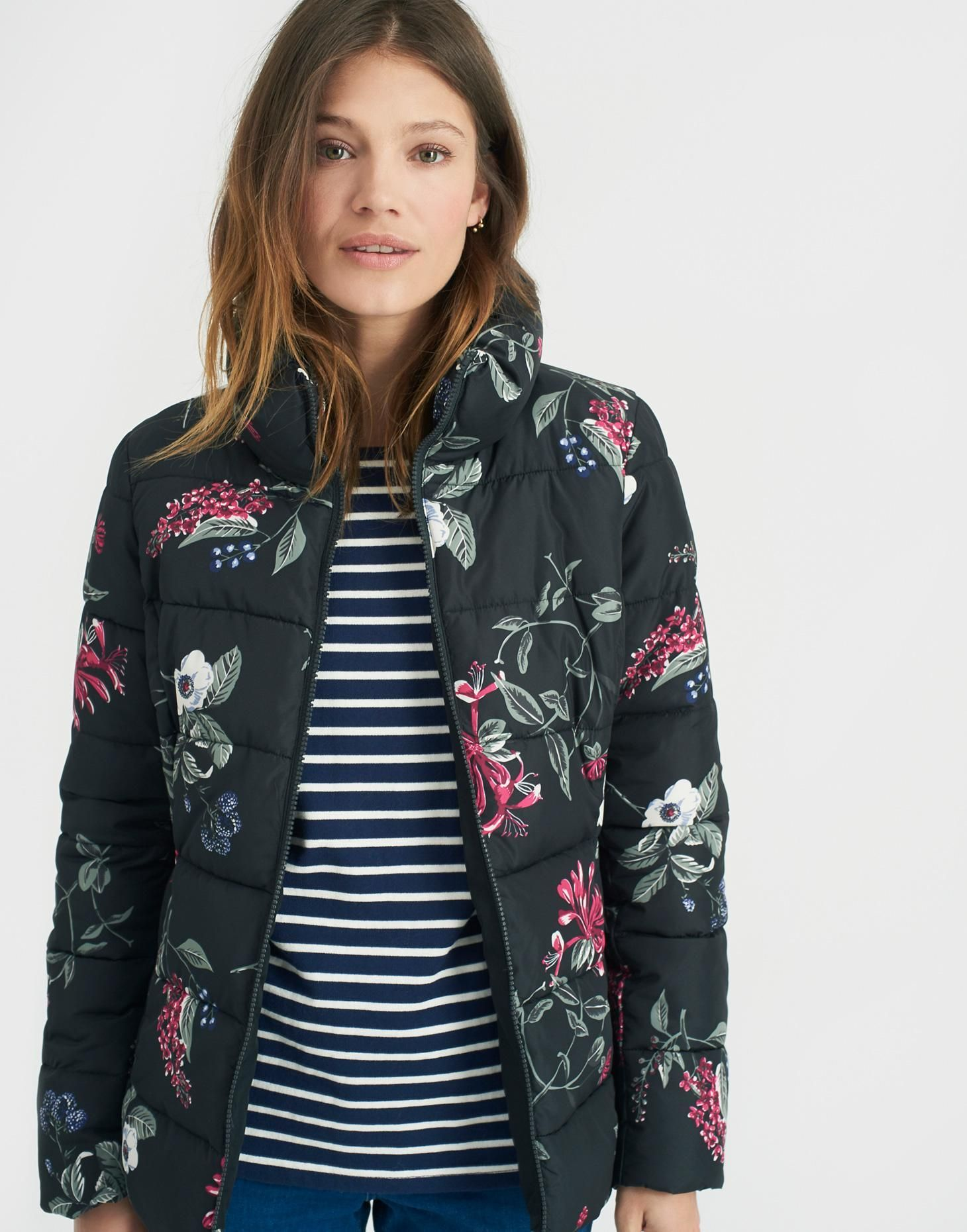 Florian Black Hedgerow Padded Jacket | Joules US | ##momBLOG ... : joules quilted jacket sale - Adamdwight.com