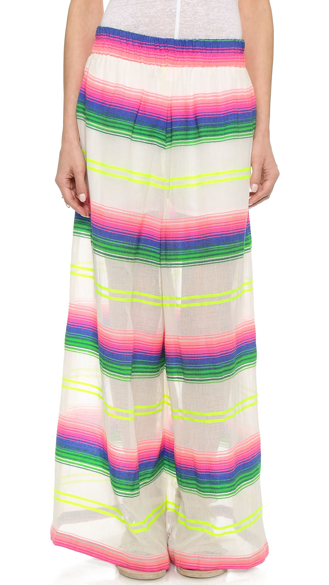 dabee9c72b61 Love these Mara Hoffman Rainbow Stripe Beach Pants