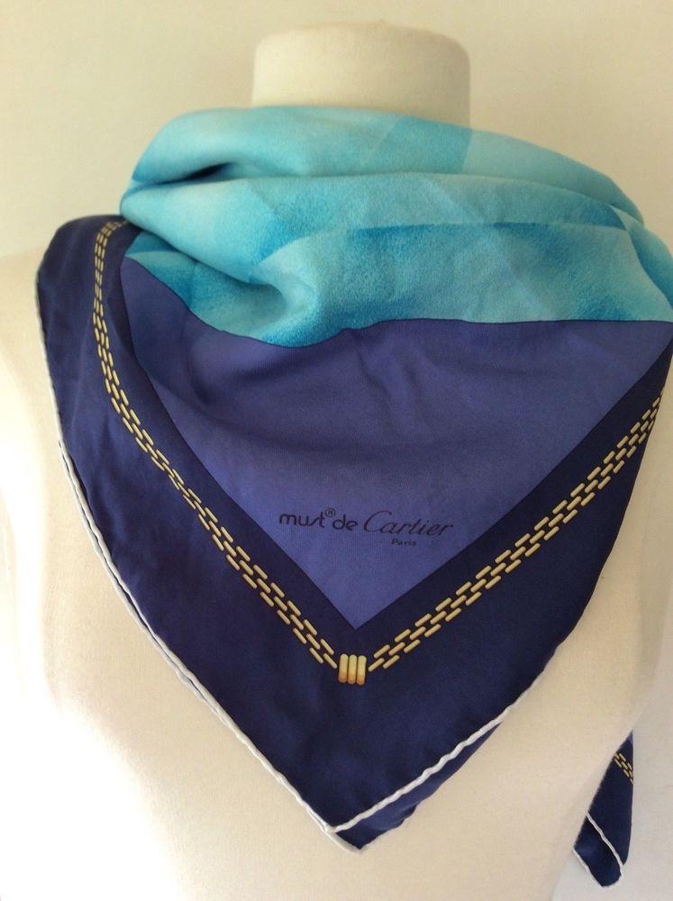 Foulard Carré Soie Vintage Must De Cartier Scarf Must de Cartier ... d4714ef5eace