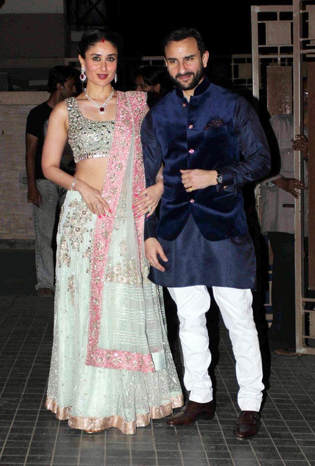 Kareena Kapoor And Saif Ali Khan At Soha Ali Khan Kunal Khemus