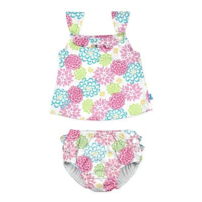 3ba1416fd4 I Play. Size 24M 2-Piece Floral Tankini With Swim Diaper Set In ...