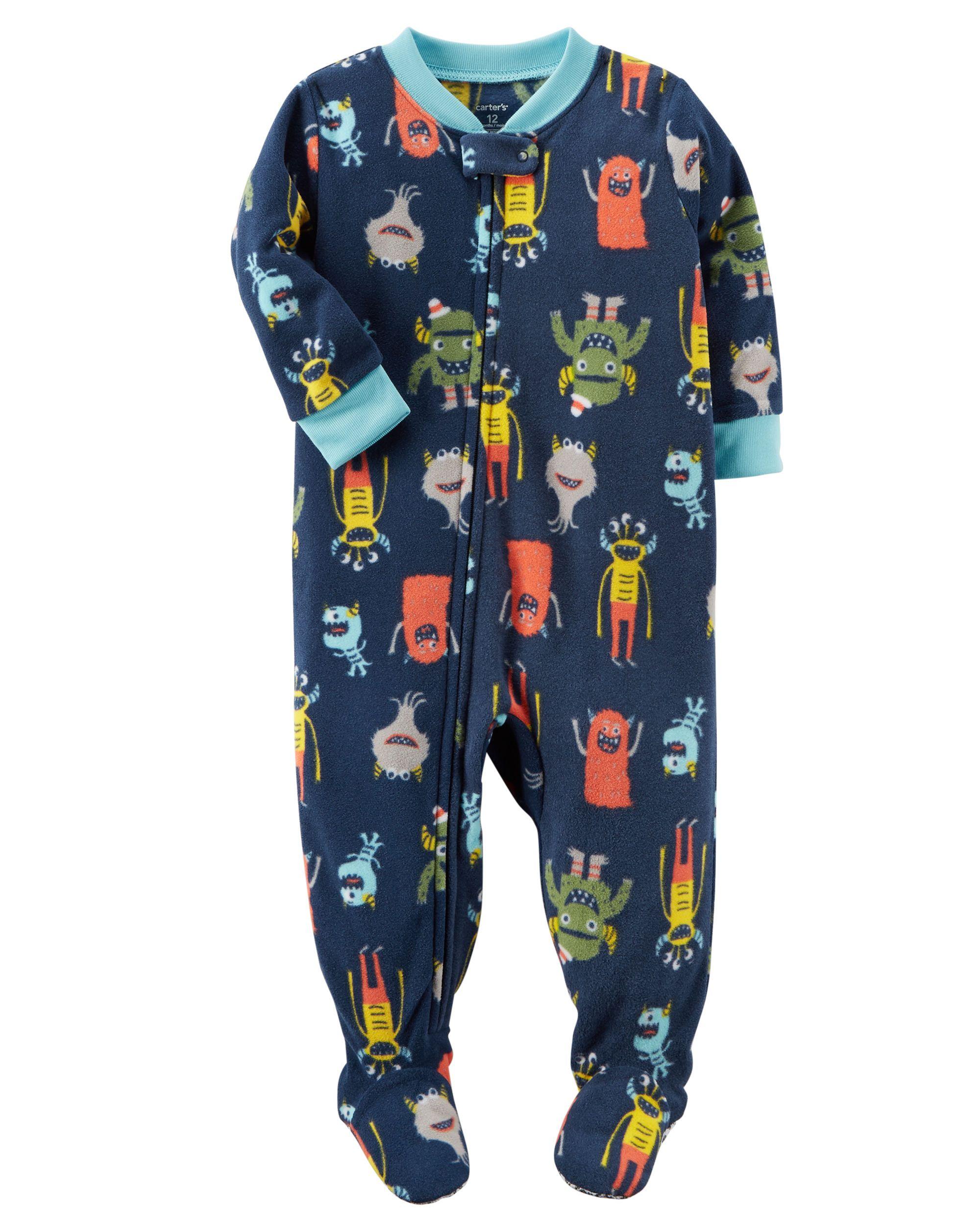 30b249a98f20 1-Piece Monster Fleece PJs