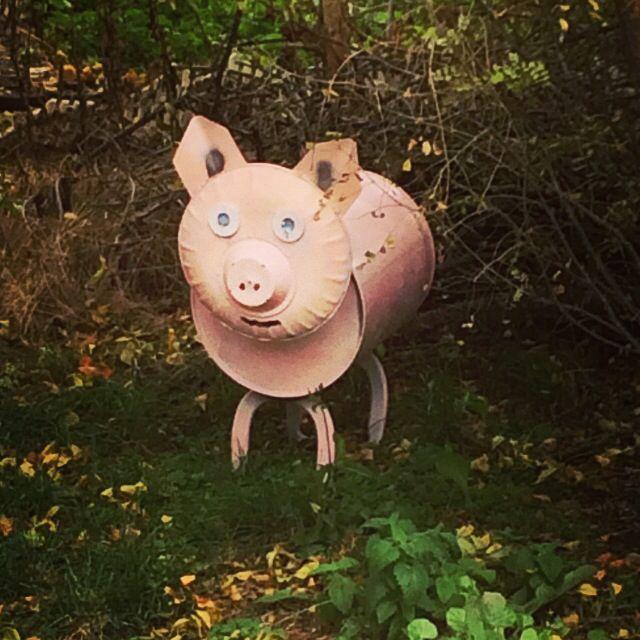 Little pig I welded out of a can. #weldedart #metalart # ...