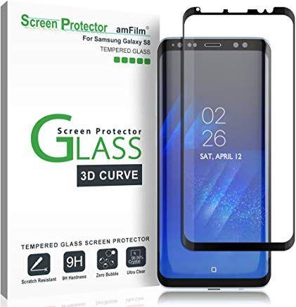 Amfilm Panzerglas Schutzfolie Fur Samsung Galaxy S8 Vollstandige Abdeckung 3d Abgerundete Display Amazon Kreditkarte Samsung Ebay