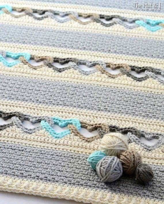 I love these chained blankets   Crochet   Pinterest