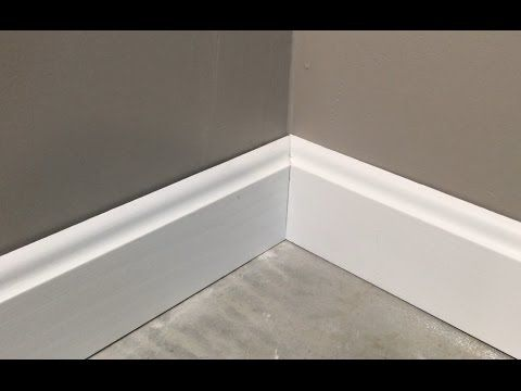 Install Perfect Outside Baseboard Corners Easy Math Trick