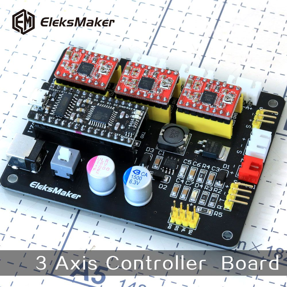 EleksMaker-Mana 3 Axis stepper motor drive control board for