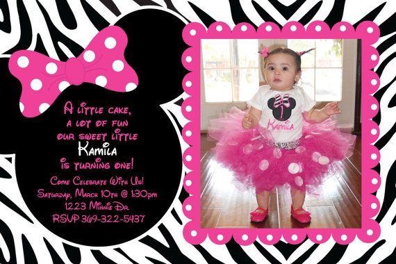 Imprimibles de Minnie Zebra 2 monse Pinterest Zebra birthday