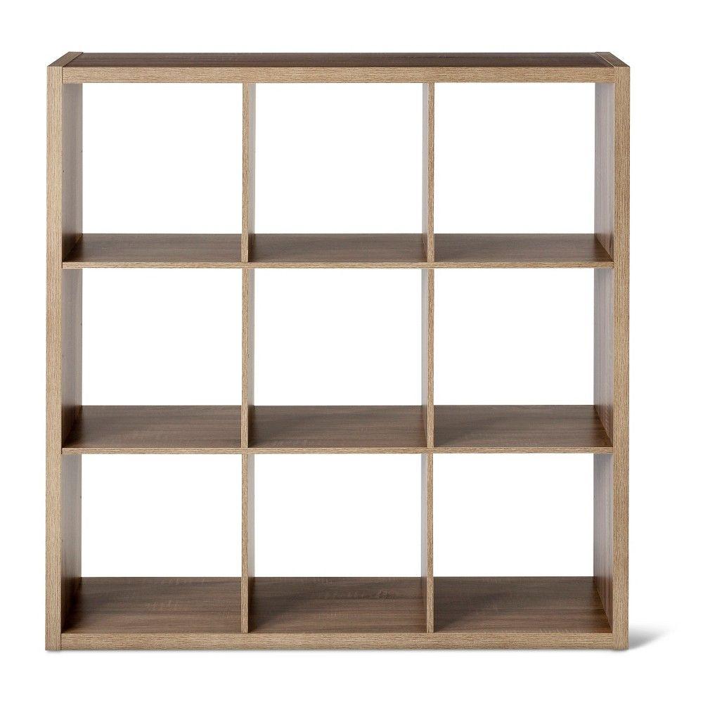 9 Cube Organizer Shelf Weathered Gray 13 Threshold Cube
