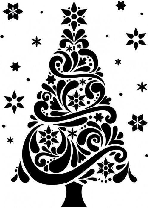 darice embossing folder 425x575 christmas tree