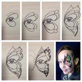Marcella Murad – aile de papillon étape par étape dessinée à la main – #butterfly #drawn #han …