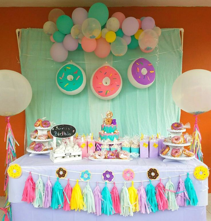 Donuts Party birthday Donut balloons, donut with Sprinkles, kids birthday Cumple... - Decor -