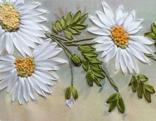 Картинки по запросу вышивка лентами полевые цветы ...