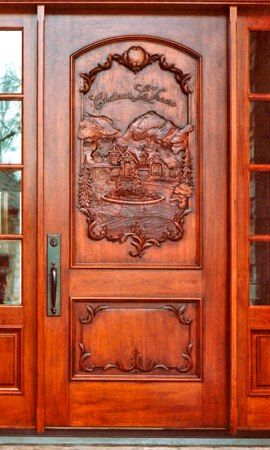 Hand Craved Wooden Doors   Truly Works Of Art.