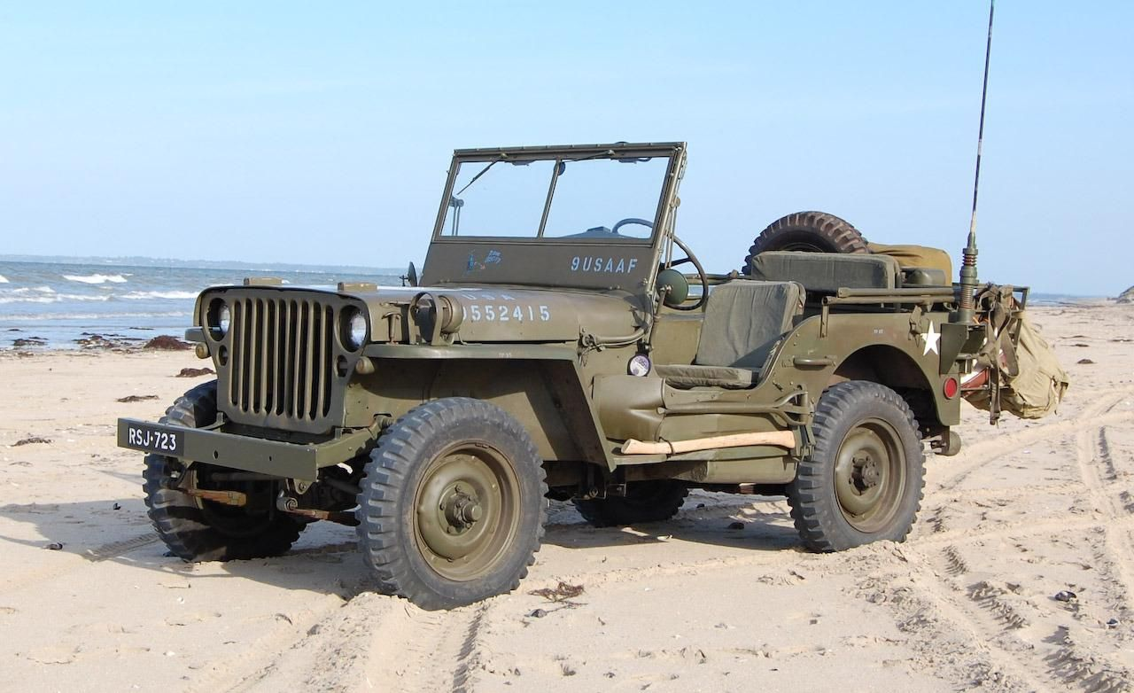 jeep on utah beach military cars pinterest autos antiguos y mimos. Black Bedroom Furniture Sets. Home Design Ideas