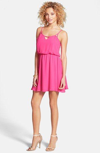 e885e5231033 Lush Cage Back Skater Dress (Juniors) available at  Nordstrom