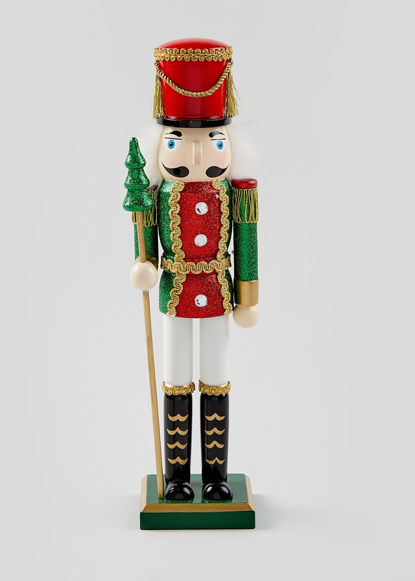 Glitter Christmas Nutcracker (38cm x 11cm)