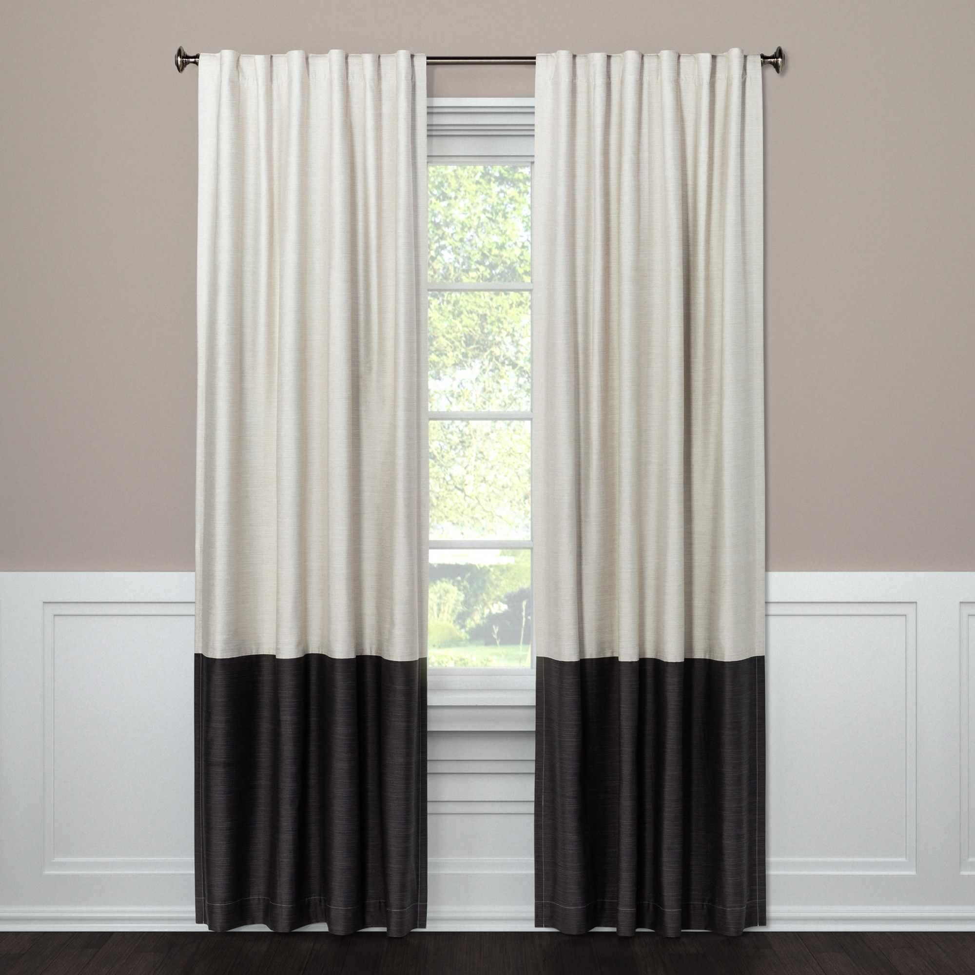 Blackout Curtain Panel Color Block Gray 108 Project 62 Panel