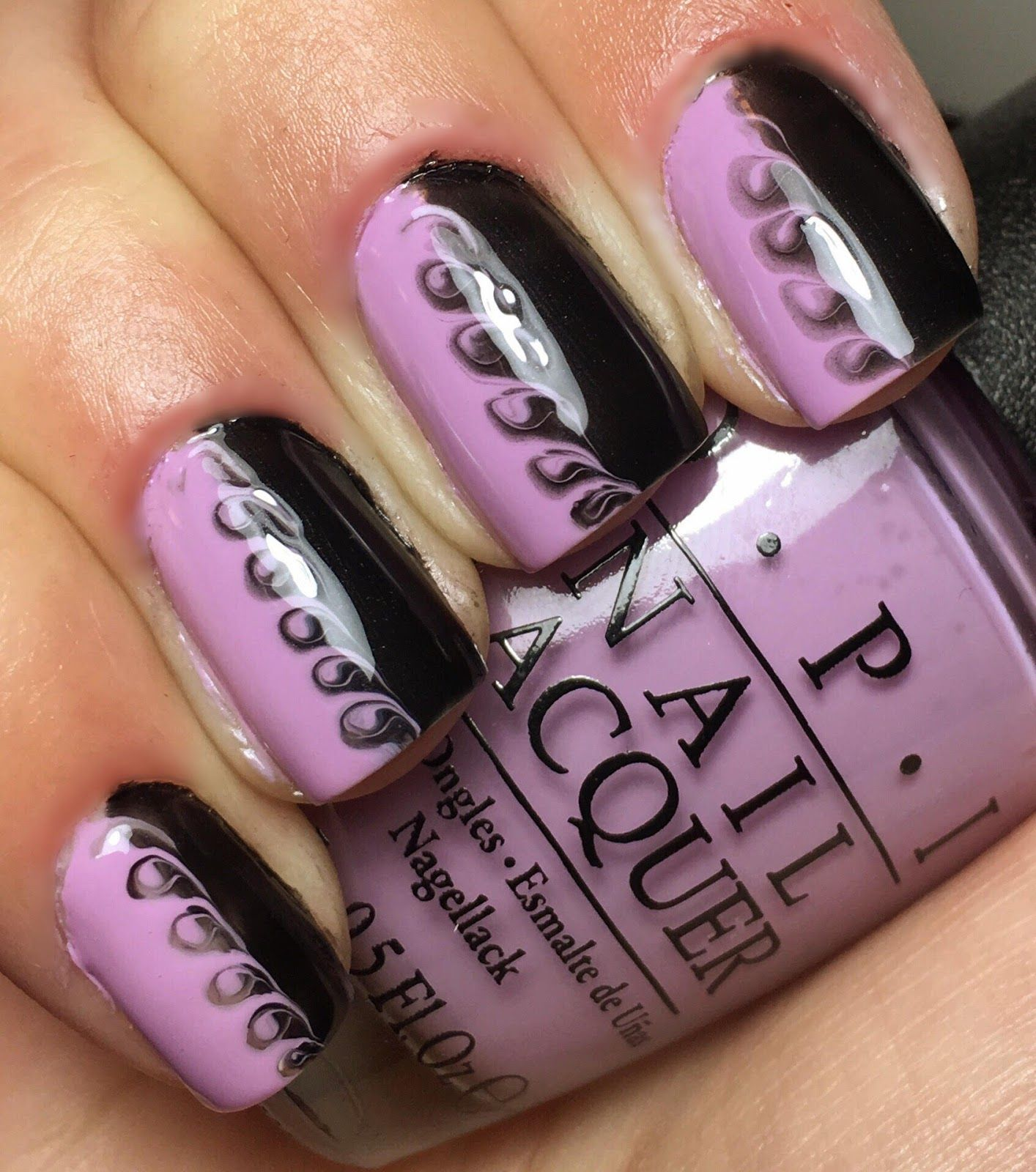 Toothpick Nail Art Designs: Nails By An OPI Addict: Toothpick Swirl Mani