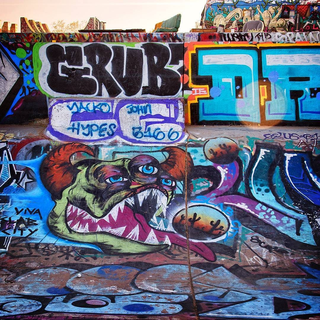 The Slab City Skate Park 03 2016 The Entire Salton Sea Area Should Be On Slab City Instagram Photography Graffiti