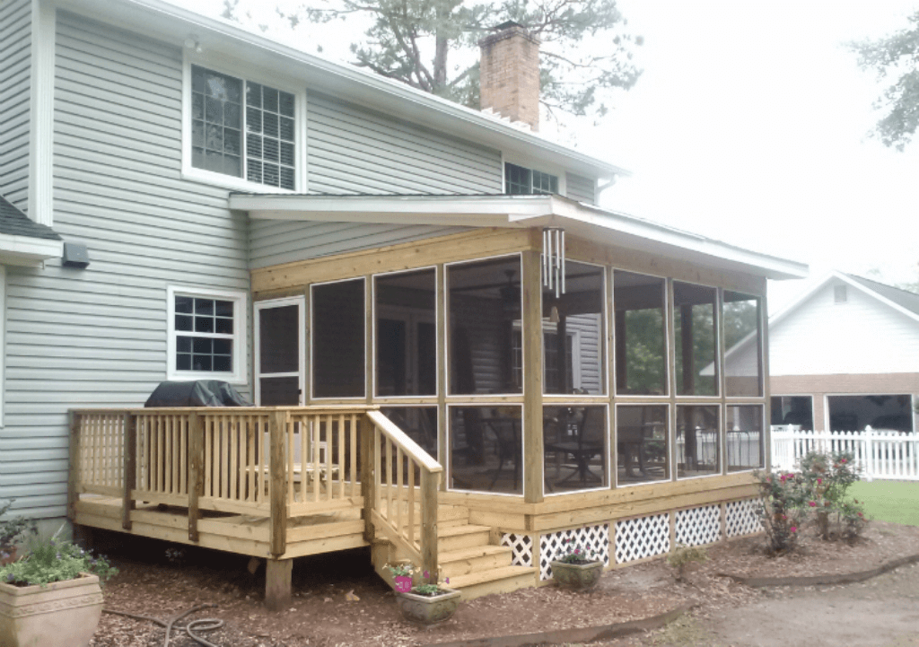 Amazing Shed Roof Screened Porch Designs Plans Screened Porch