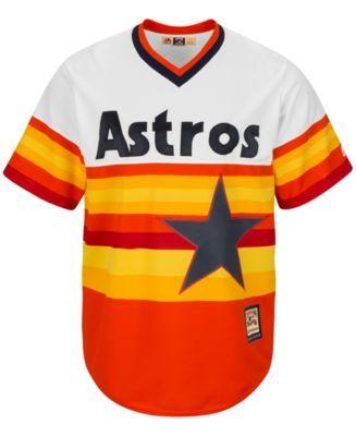 3e56bd47c Majestic Men's Craig Biggio Houston Astros Cooperstown Replica Jersey -  Orange S