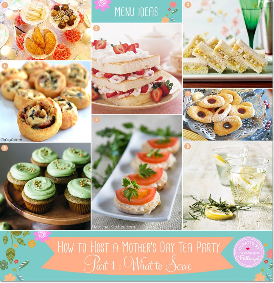 simple mother's day tea party food | **all things party and