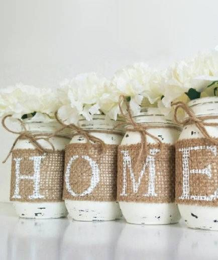 51 Mason Jar Christmas Gifts and Craft Ideas -   24 mason jar burlap