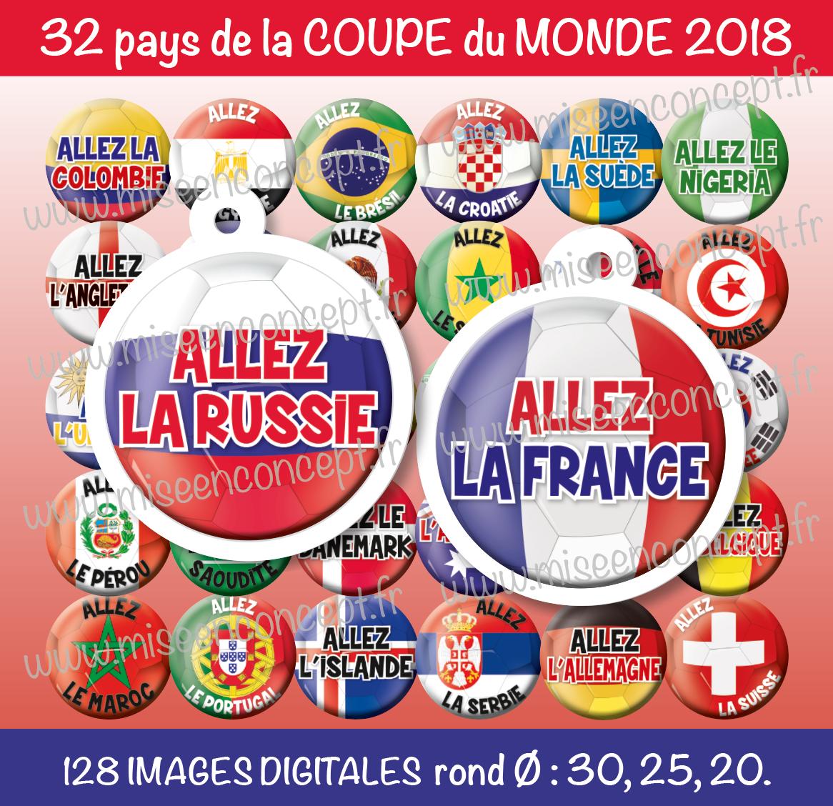 128 images digitales allez la coupe du monde 2018 rond images cabochons football foot. Black Bedroom Furniture Sets. Home Design Ideas