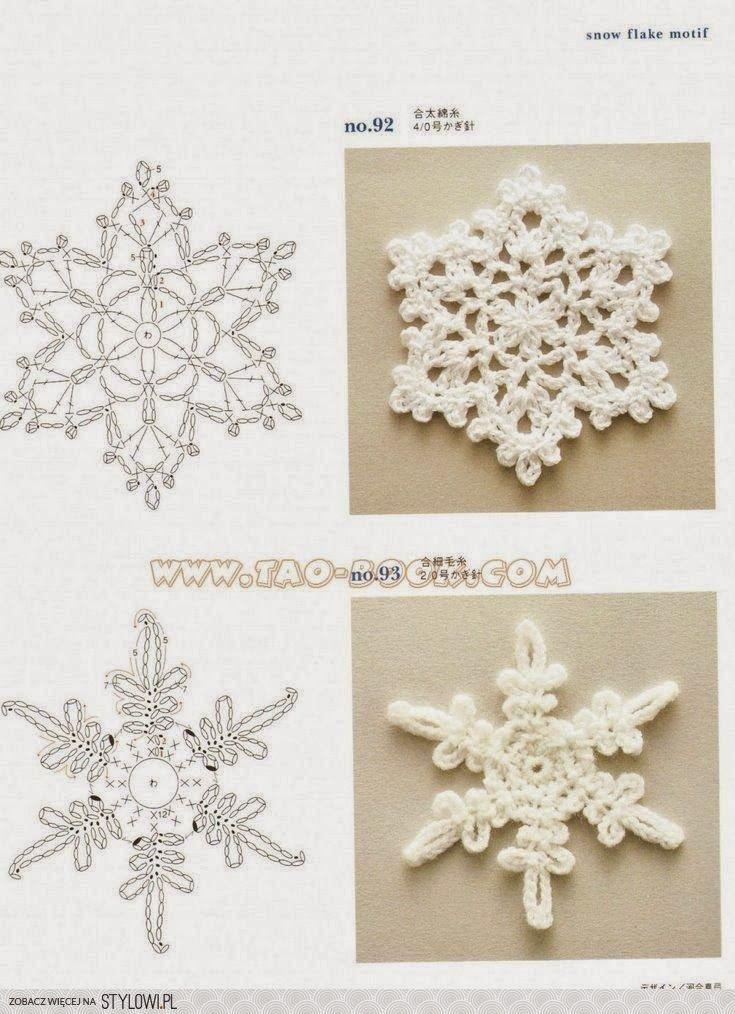 Patrón: copo de nieve | Crochet | Pinterest | Crochet snowflakes ...