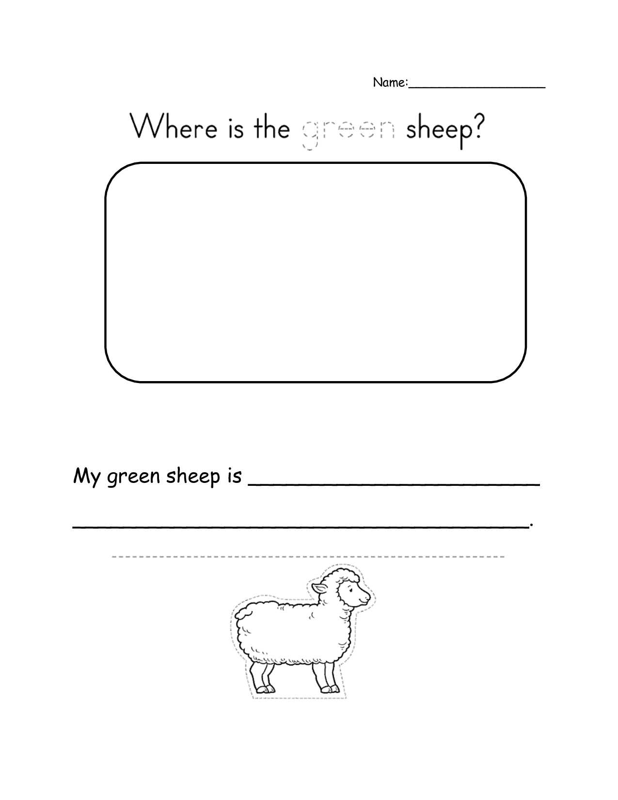 Where Is The Green Sheep Worksheets