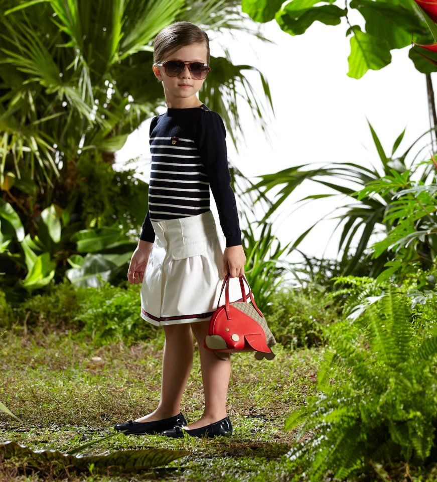 Pint-sized cuteness in head-to-toe Gucci