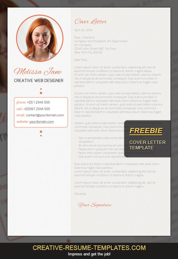 free cover letter template  download it here  creative