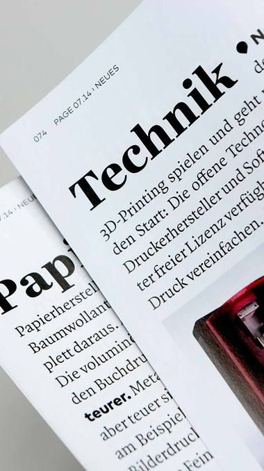 PAGE Magazine Professional fonts, Typeface