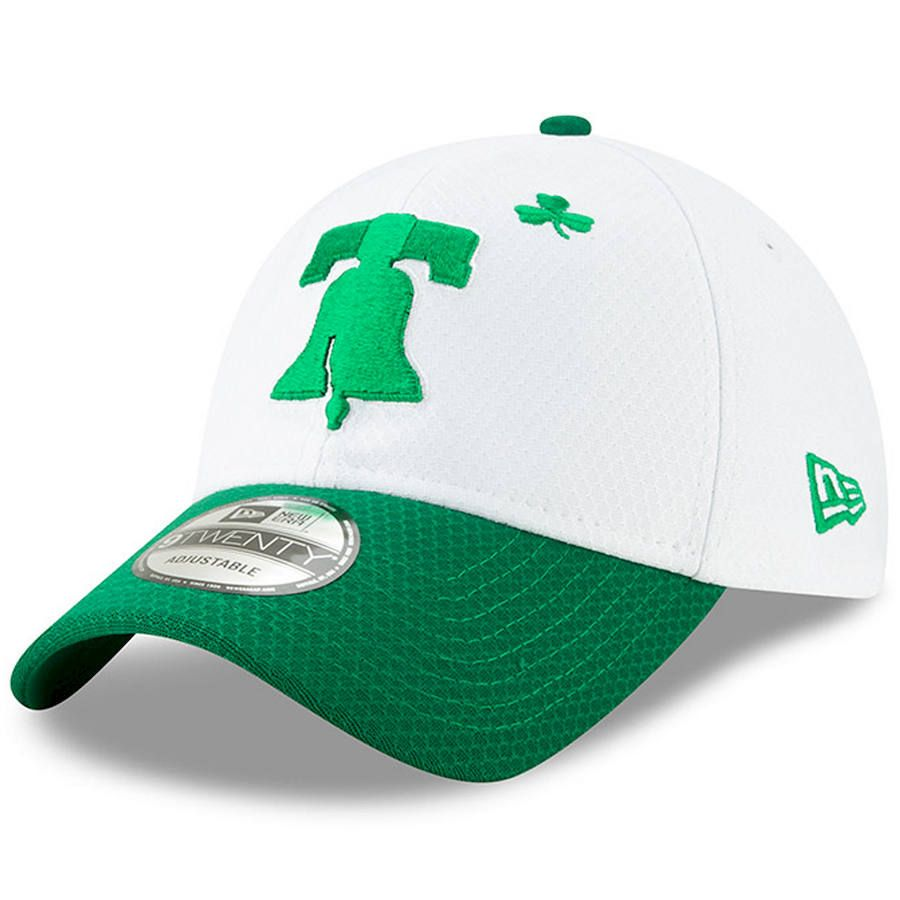 super popular a1a72 ef1eb Men s Philadelphia Phillies New Era White Kelly Green 2019 St. Patrick s  Day 9TWENTY Adjustable Hat, Your Price   29.99