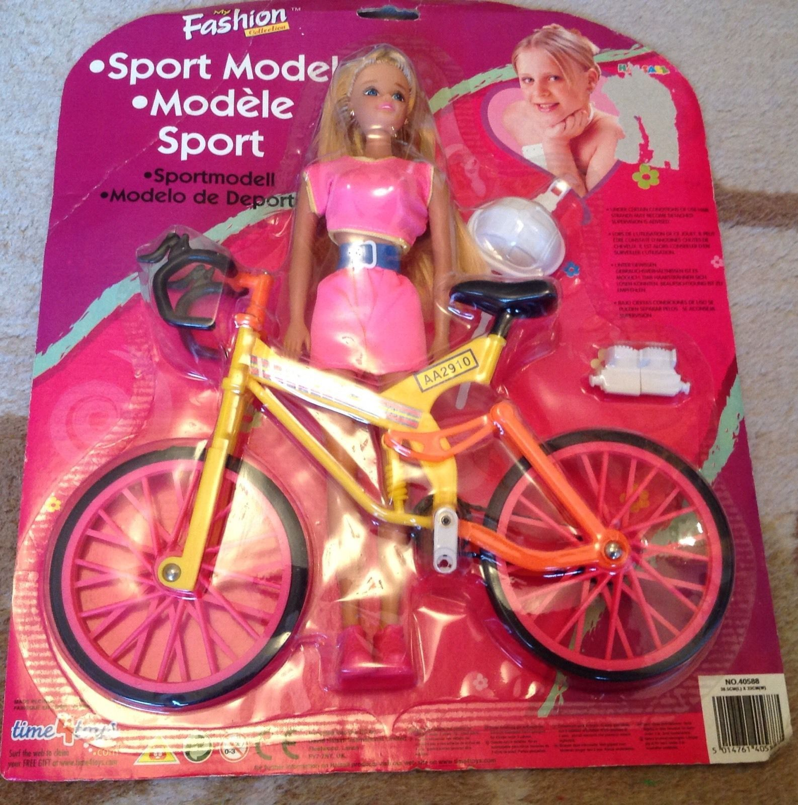 Vintage Fashion Doll With Mountain Bike Set | 3.78+5 listed