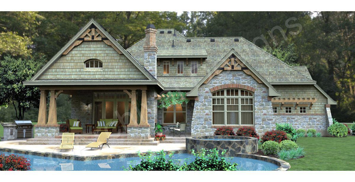 S\u0027Fondare Estate House Plan - S\u0027Fondare Estate Rear Rendering