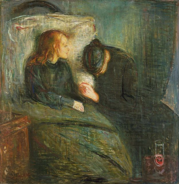"""Edvard Munch, """"The Sick Child,"""" 1885 : The painter of """"The Scream"""" got his early start in poignancy with """"The Sick Child,"""" a title given to collection of works surrounding the death of his older sister Johanne from tuberculosis at age 15. Throughout his career, he created several variants of the same painting."""
