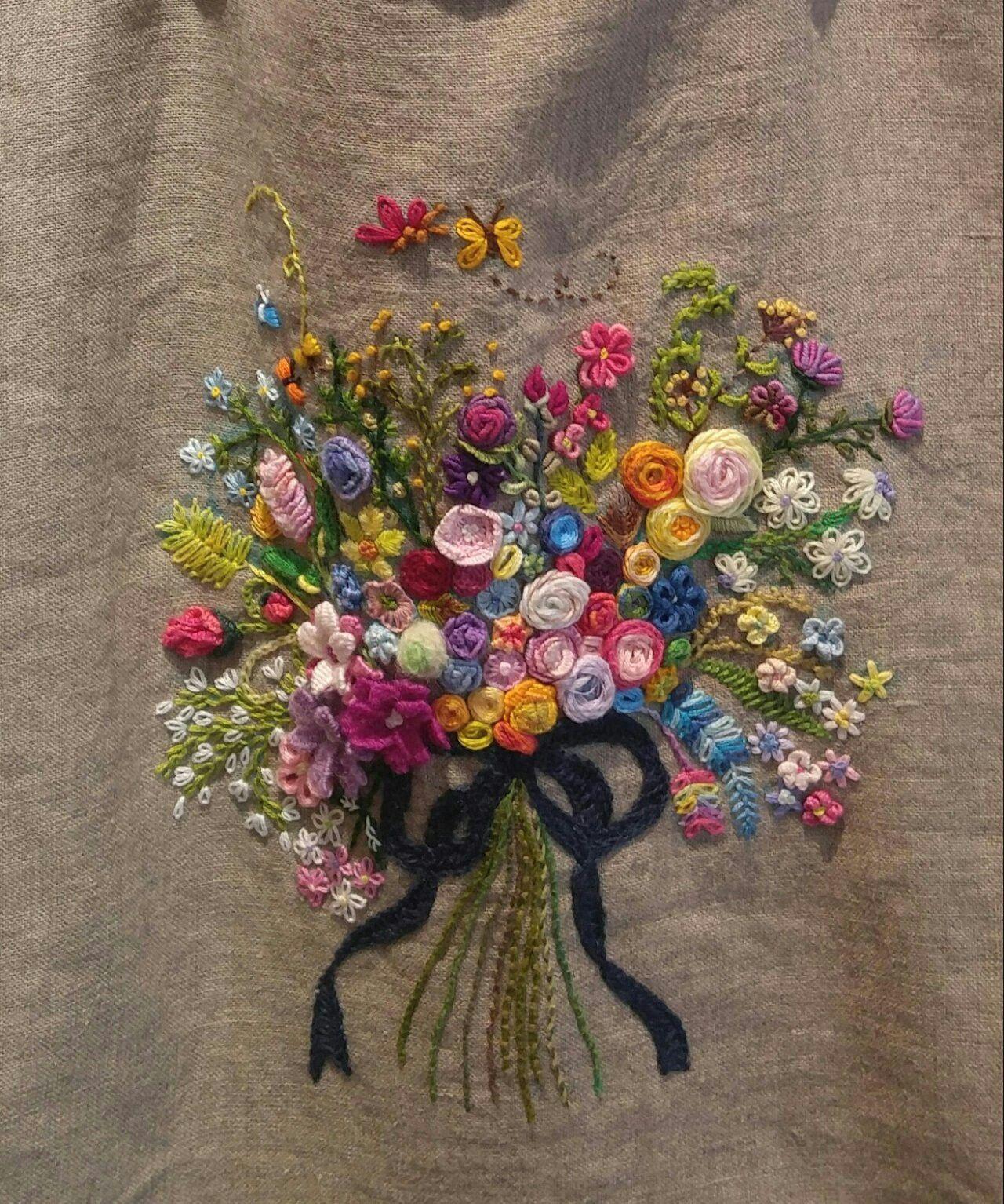 pingl par katy gwag sur pinterest broderie bouquets de fleurs et bouquet. Black Bedroom Furniture Sets. Home Design Ideas