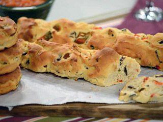 Pan de aceitunas y morrones apto-celíacos | recetas | FOX Life