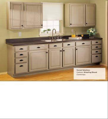 Winter Fog glazed - Rustoleum cabinet transformation | Rental home ...