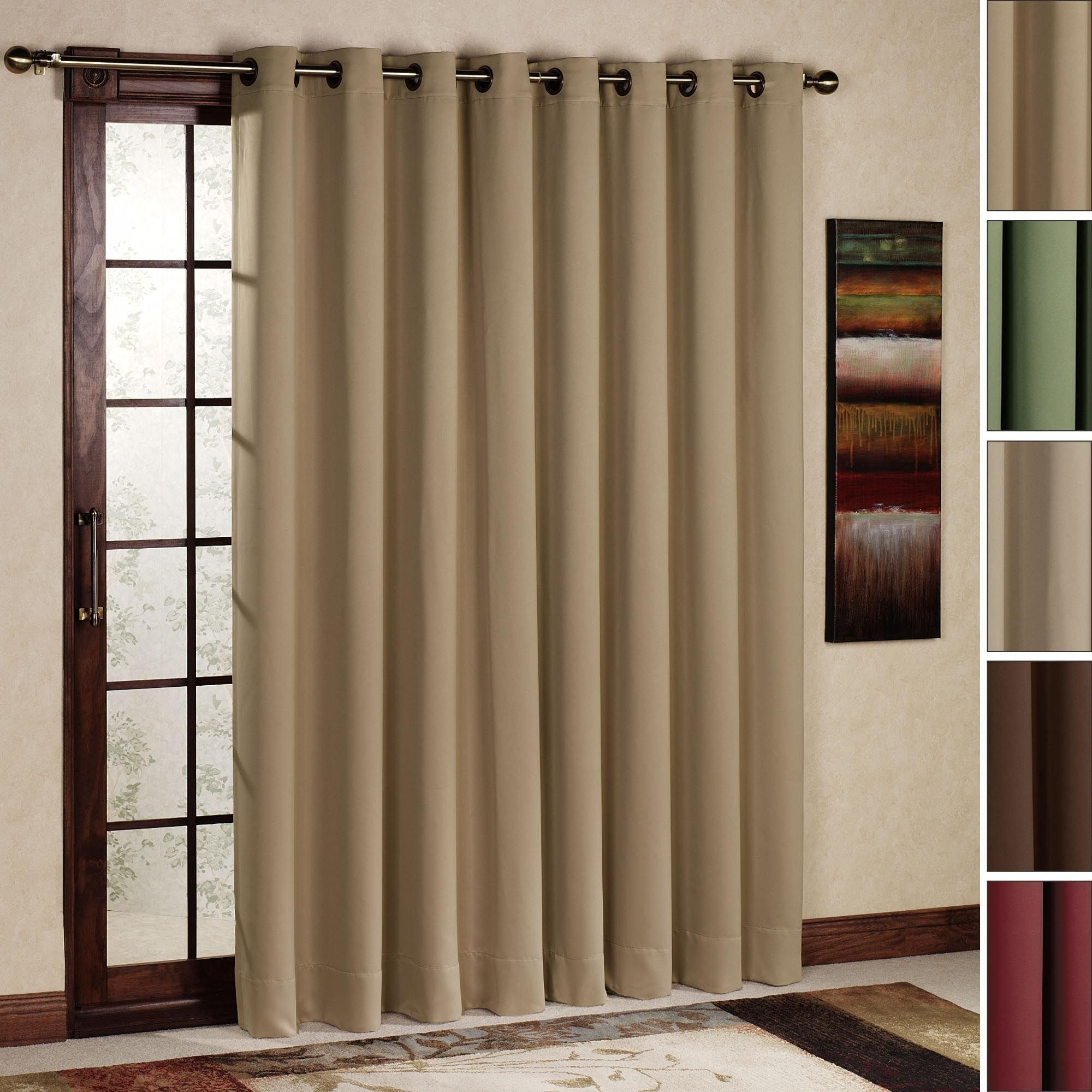 Curtain Rod Size For Sliding Glass Door Window Treatments Design