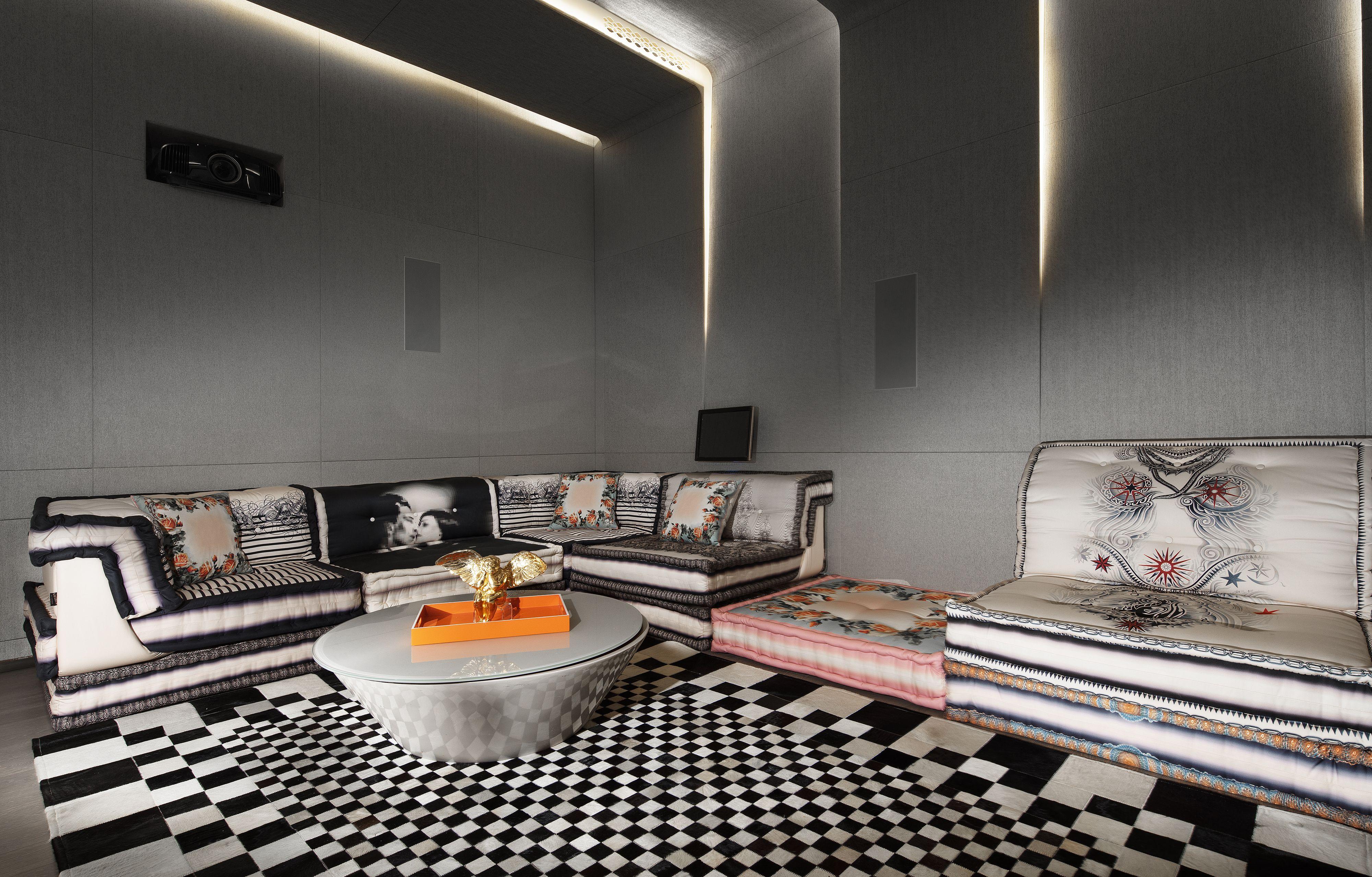 Roche Bobois L Mah Jong Sofa Dressed In Jean Paul Gaultier Fabrics